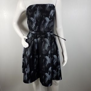 WHBM Strapless Party Belted Dress Sz 10  2278